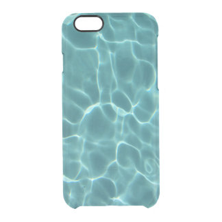 Blue Green Swimming Pool Clear iPhone 6/6S Case
