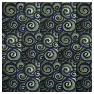 Blue Green Swirl Fabric