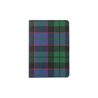 Blue Green Tartan Passport Holder