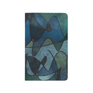 Blue Green Teal Digital Stained Glass Abstract Art Journal