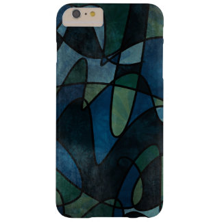 Blue Green Teal Digital Stained Glass Abstract Barely There iPhone 6 Plus Case