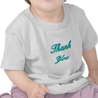 Blue Green Thank You Design The MUSEUM Zazzle Gift Tee Shirts