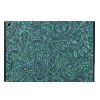 Blue-Green Tones Vintage Paisley Pattern Case For iPad Air