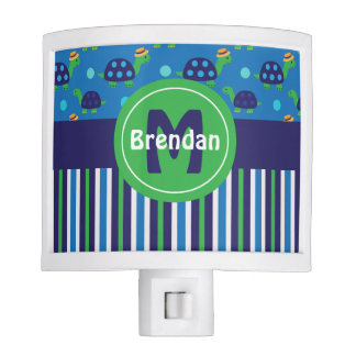 Blue Green Turtles Personalized Night Lite