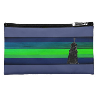 Blue green Vacation sky Cosmetic Bag