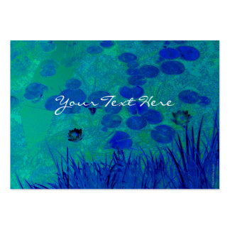 Blue Green Water Lily Business Card Template