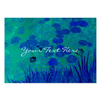 Blue Green Water Lily Business Card