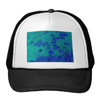 Blue Green Water Lily Hat