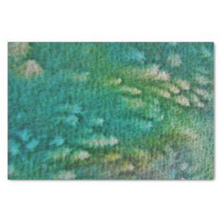 Blue Green Watercolor Tissue Paper