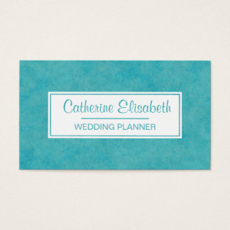 Blue / Green Watercolor Wash Painting,  2-Sided Business Card