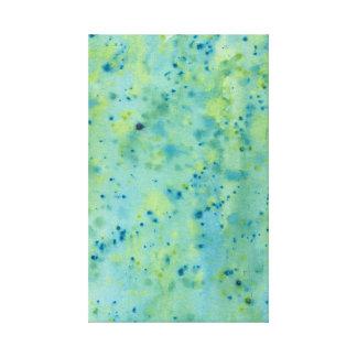 Blue & Green Watercolour Splat Canvas Print