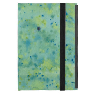 Blue & Green Watercolour Splat Case For iPad Mini