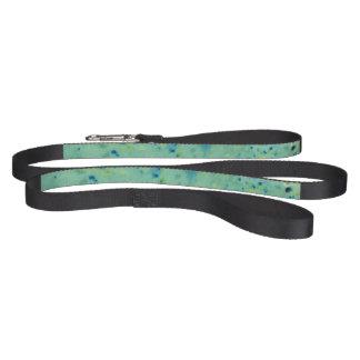 Blue & Green Watercolour Splat Pet Lead