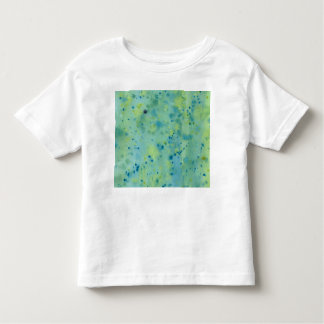 Blue & Green Watercolour Splat Toddler T-shirt