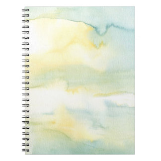 Blue & Green Watercolour Wash Spiral Notebook