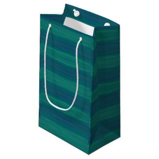 blue green waves gift bag