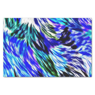 Blue Green White Purple Tie Dye Abstract Pattern Tissue Paper