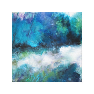 Blue Green Wilderness Canvas Print
