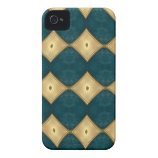 Blue Green with diamonds Blackberry Case
