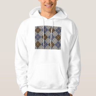 Blue & Grey Argyle Design Hooded Pullovers