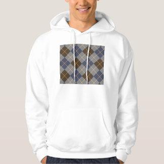 Blue & Grey Argyle Design Hoodie