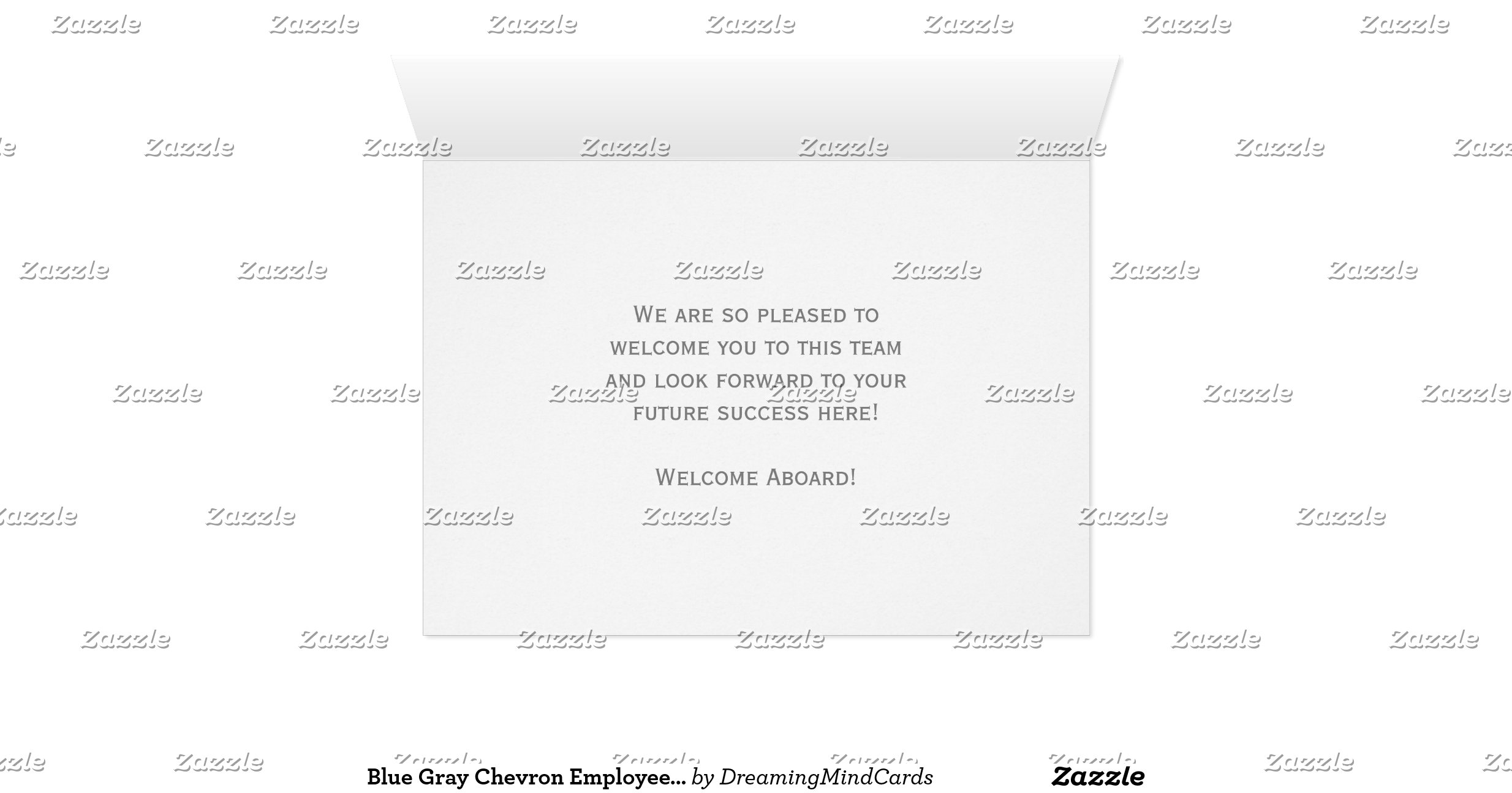 Blue Grey Chevron Employee Welcome to the Team Greeting