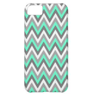 Blue & Grey Chevron Pattern Case For iPhone 5C