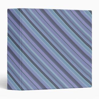 Blue-grey diagonal stripes binder