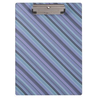 Blue-grey diagonal stripes clipboard