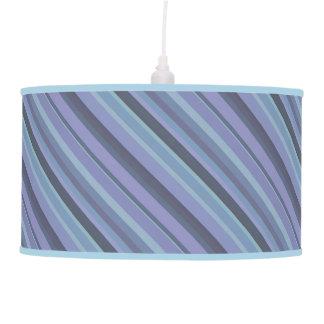 Blue-grey diagonal stripes pendant lamp