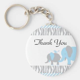 Blue & Grey Elephant Keychain