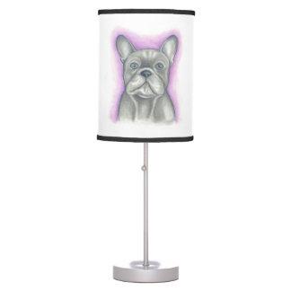 Blue-grey French Bulldog lamp