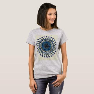 Blue Grey Geometric Spiral Design Shirt