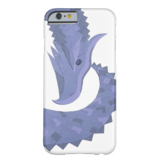 Blue-grey heart dragon on white barely there iPhone 6 case