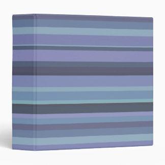 Blue-grey horizontal stripes 3 ring binder