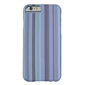 Blue-grey horizontal stripes barely there iPhone 6 case