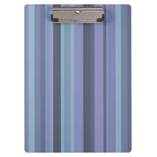 Blue-grey horizontal stripes clipboard