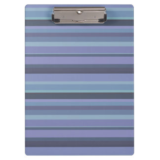 Blue-grey horizontal stripes clipboard