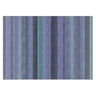 Blue-grey horizontal stripes cutting board