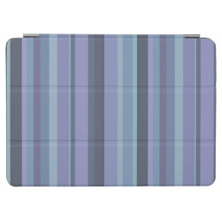 Blue-grey horizontal stripes iPad air cover