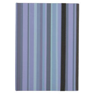 Blue-grey horizontal stripes iPad air cover