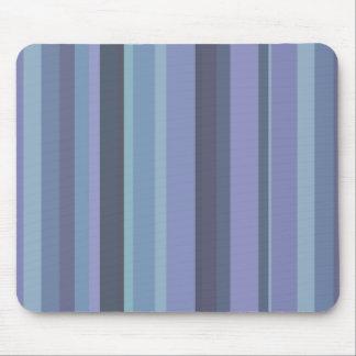 Blue-grey horizontal stripes mouse pad