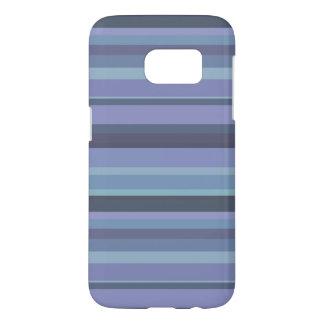 Blue-grey horizontal stripes samsung galaxy s7 case
