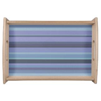 Blue-grey horizontal stripes serving tray