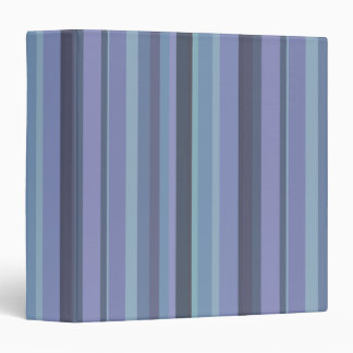 Blue-grey horizontal stripes vinyl binders