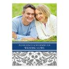 Blue Grey Photo Wedding Vow Renewal Invitation