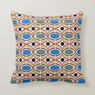Blue Grey Retro Dots Pillows