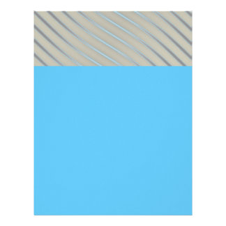 Blue Grey Silver Curved Lines Chic abstract flow Letterhead