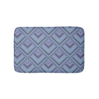 Blue-grey stripes scale pattern bath mat