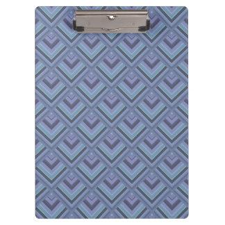 Blue-grey stripes scale pattern clipboard